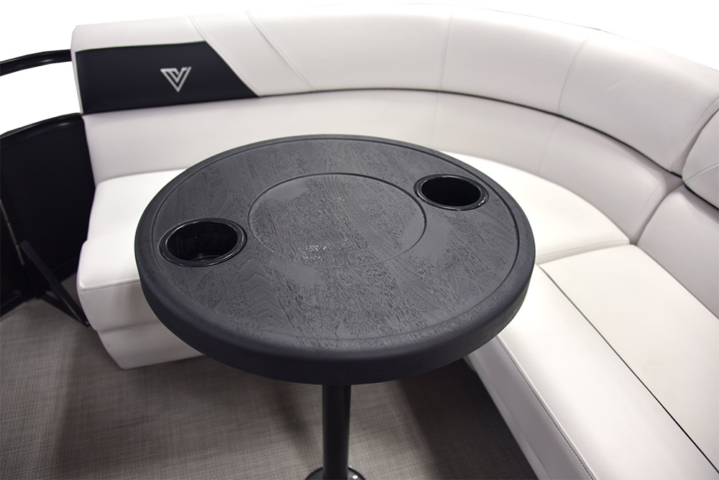 Floatable Table on Del Mar 16F Pontoon Boat | Viaggio by Misty Harbor