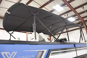 New Extended Bimini for your Pontoon Boat!
